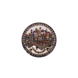 Round Plate Magnet Jerusalem