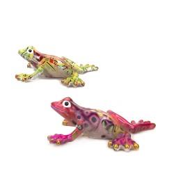 Souvenir frog, color mix