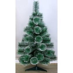 Cedar Green With Snow 90 cm, d Needles 10 cm, d Lower Tier 58 cm, 57 Branches, Plastic Stand