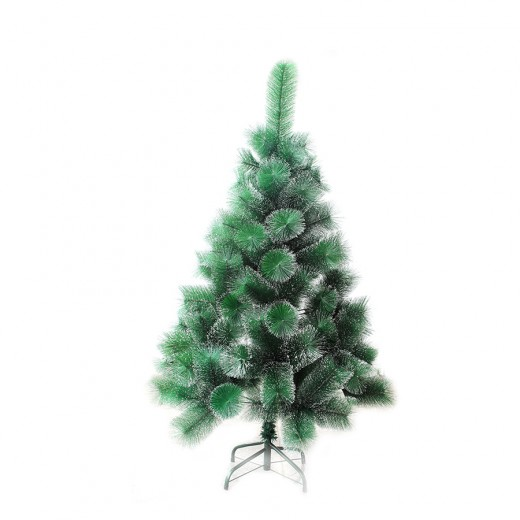 Cedar Green With Snow 120 cm, d Lower Tier 80 cm, d Needles 10 cm, 110 Branches, Metal Stand