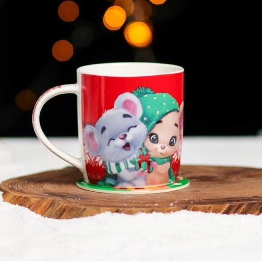 "New year's mug ""Warmth and comfort"", 350 ml"