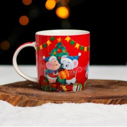 """Mug gift """"Warmth and comfort in the New year"""""""