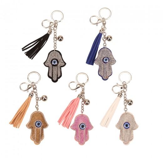 Bright key chain in a Hamsa assorted colors