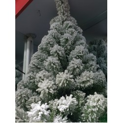 Artificial Christmas tree in the snow 120 cm 200 branches, with an iron stand