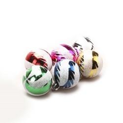 A set of Christmas toys, 6 pieces, d-5 cm