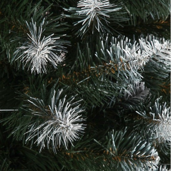 Artificial Christmas tree 210 cm 1100 branches, branch width 8 cm, white tips