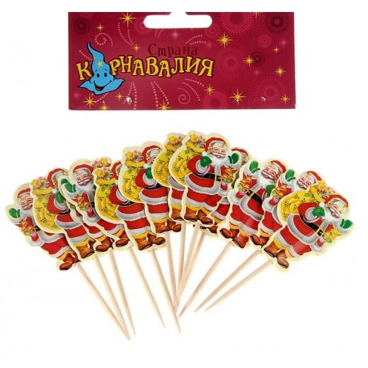 """Pick for tapas """"Santa Claus"""" (set of 12 pieces)"""