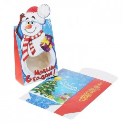 "Box team figured ""Snowman"", with PVC window"