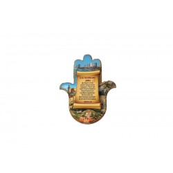 Magnet in the form of hamsa Blessing of the house in Russian