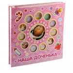 """Photo Album 20 sheets of magnetic frame into several windows, """"our daughter"""""""