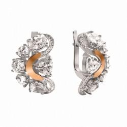 Earrings / English fastener