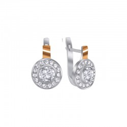 """Earrings with zirconium from the collection - """"European"""""""