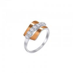 """Silver ring with zirconium """"Miranda"""""""