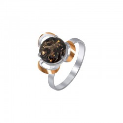 Silver ring with rauchtopaz