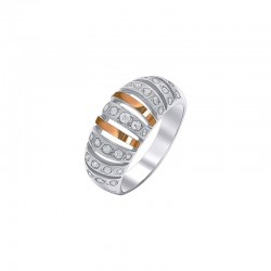 "Silver ring with gold- ""Antalya"""
