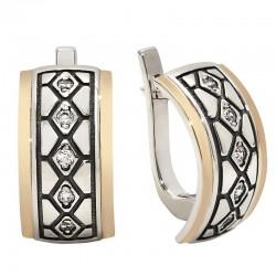 "Silver and zirconia earrings - ""Felicia"""