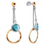 Silver Blue Zirconia Earrings