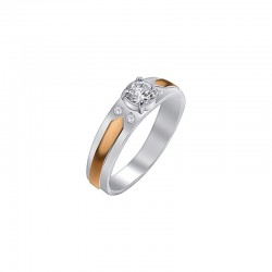 "Silver ring with zirconium ""Donna"""
