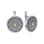 """Earrings in silver with black """"Indiana"""""""