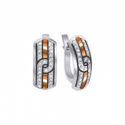 """Earrings in silver with gold and zirconia - """"Juventa"""""""