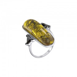 "Silver Ring with Zirconia ""Amber"""