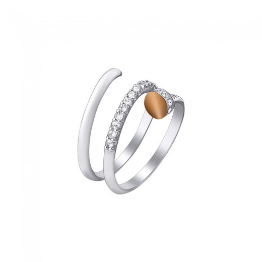 """Silver Ring with Zirconia - """"Nail"""""""