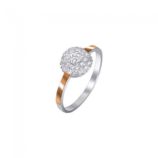 """Ring of silver with gold and zirconium- """"Lyubava"""""""