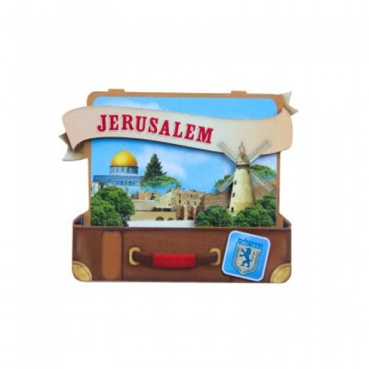 """Magnet in the form of a suitcase """"Jerusalem"""""""