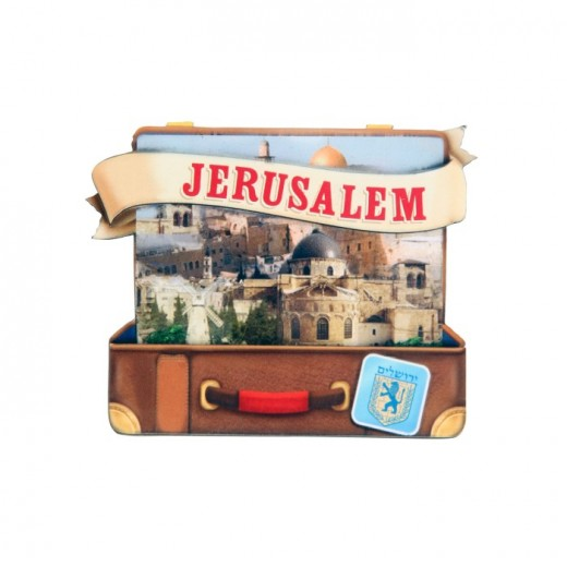 Magnet in the form of a suitcase Jerusalem