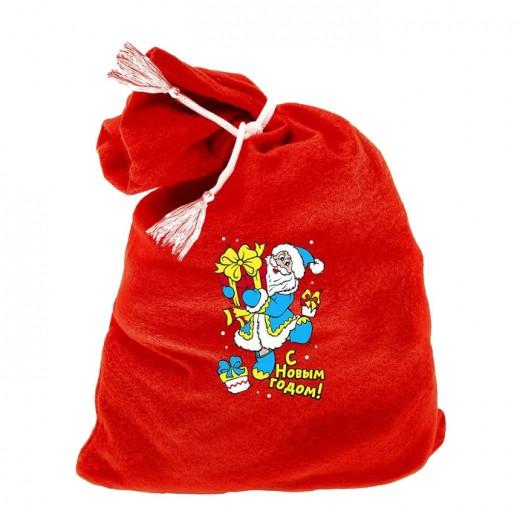"Carnival tie brush Santa Claus bag of ""Happy New Year"" 60 * 95"