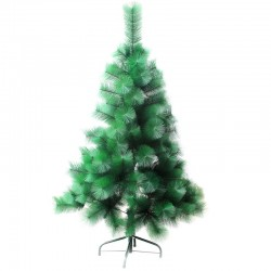 Cedar Green 210 cm, d Lower Tier 87 cm, d Needles 12 cm, 266 Branches, Metal Stand