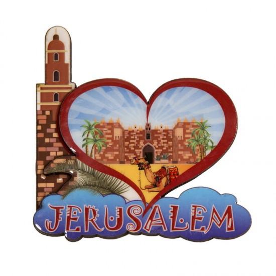 Heart-shaped magnet - Jerusalem