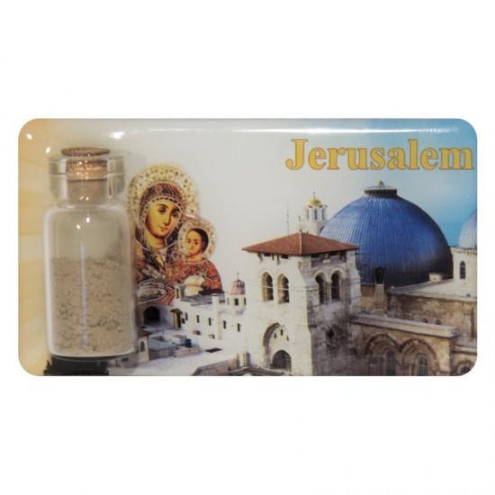 Magnet with earth bank- Jerusalem (Maria of Bethlehem)