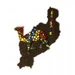 The camel magnet Jerusalem is a unique souvenir with a bright design.