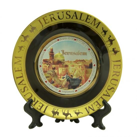 Jerusalem Ceramic Souvenir Plate