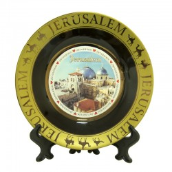 Souvenir Plate with the Image of Jerusalem (Holy Sepulcher)