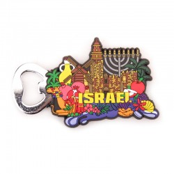 Stylish magnet - Israel with an opener. souvenir from the holy land