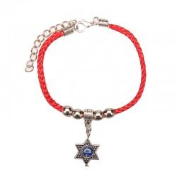 Bracelet on hand with pendant magen David