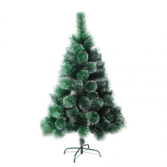 25557992,Cedar Green With Silver 210 cm, d Lower Level 120 cm, d Needles 12 cm, 286 Branches, Metal Stand