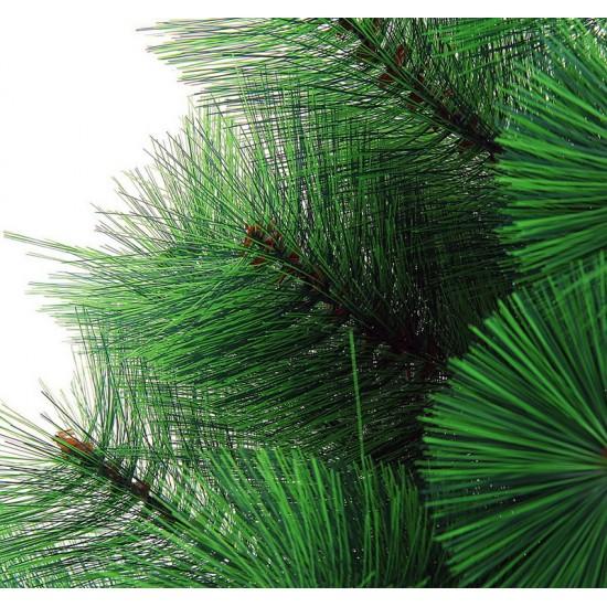 11290144,Cedar Green 210 cm, d Lower Tier 87 cm, d Needles 12 cm, 266 Branches, Metal Stand